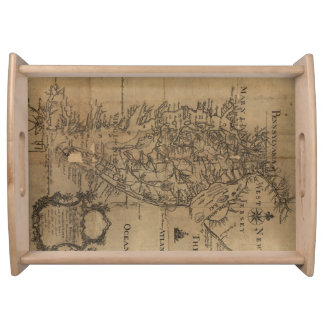 Vintage Map of The Chesapeake Bay (1778) Serving Tray