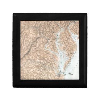 Vintage Map of The Chesapeake Bay (1861) Gift Box