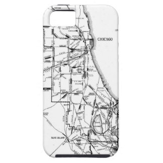 Vintage Map of The Chicago Railroad Network (1913) iPhone 5 Covers