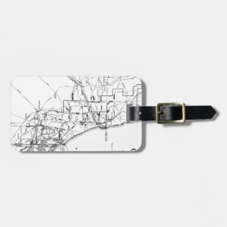 Vintage Map of The Chicago Railroad Network (1913) Luggage Tag