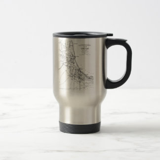 Vintage Map of The Chicago Railroad Network (1913) Stainless Steel Travel Mug