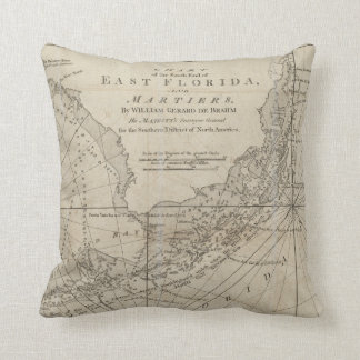 Vintage Map of The Florida Keys (1771) Cushion