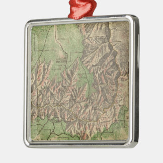 Vintage Map of The Grand Canyon (1926) Christmas Ornament