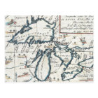 Vintage Map of The Great Lakes (1696) Postcard