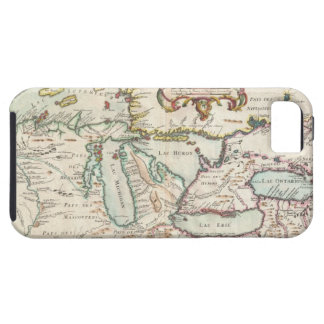 Vintage Map of The Great Lakes (1755) iPhone 5 Cover