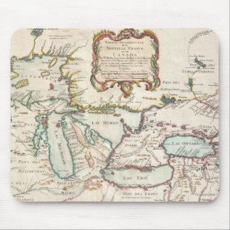Vintage Map of The Great Lakes (1755) Mouse Mat