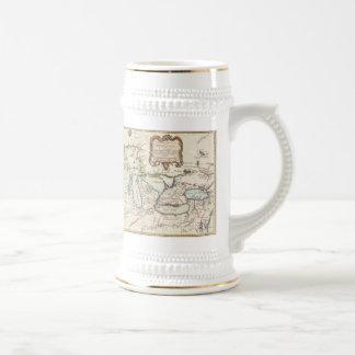 Vintage Map of The Great Lakes (1755) Mug