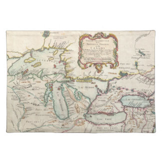 Vintage Map of The Great Lakes (1755) Placemat