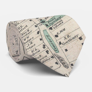 Vintage Map of The Hamptons (1873) Tie