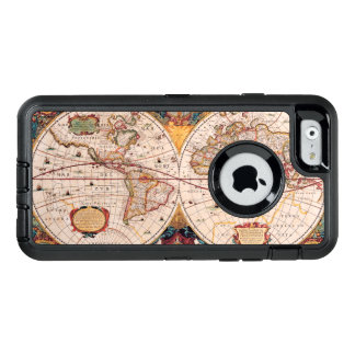 Vintage Map of the Known World Circa 1600 OtterBox Defender iPhone Case