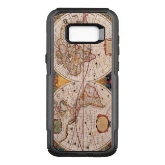 Vintage Map of the Known World Circa 1630 OtterBox Commuter Samsung Galaxy S8+ Case