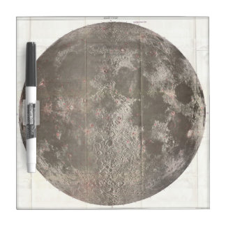 Vintage Map of The Moon (1961) Dry Erase Board