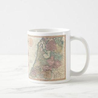 Vintage Map of the Netherlands (1799) Basic White Mug