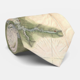 Vintage Map of The Neuse River (1874) Tie