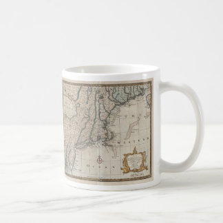 Vintage Map of The New England Coast (1747) Basic White Mug