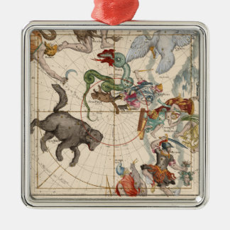 Vintage Map of the North Pole Christmas Ornament