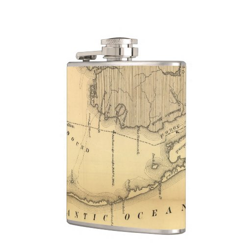 Vintage Map of The Outer Banks (1862) Hip Flasks