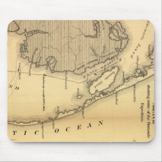 Vintage Map of The Outer Banks (1862) Mouse Mat