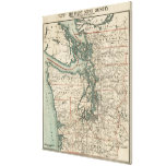 Vintage Map of The Puget Sound (1910) Stretched Canvas Prints