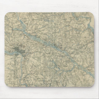 Vintage Map of The Richmond Virginia Area (1864) Mouse Mat