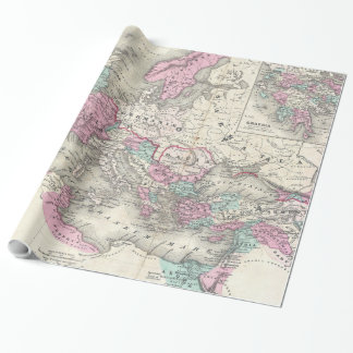 Vintage Map of The Roman Empire (1862) Wrapping Paper