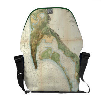 Vintage Map of The San Diego Bay (1857) Courier Bag