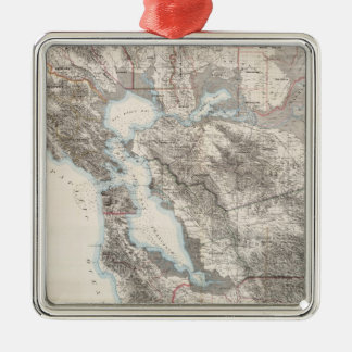 Vintage Map of The San Francisco Bay (1873) Christmas Ornament