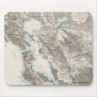 Vintage Map of The San Francisco Bay (1873) Mouse Mat