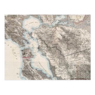 Vintage Map of The San Francisco Bay (1873) Postcard