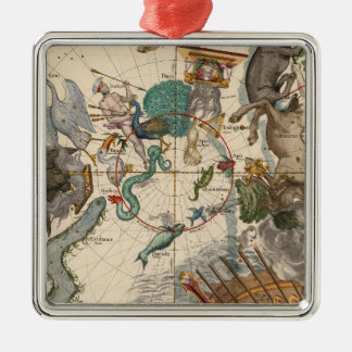 Vintage Map of the South Pole Christmas Ornament