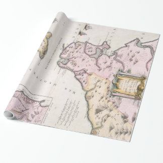 Vintage Map of The Strait of Gibraltar (1780) Wrapping Paper