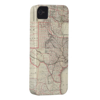 Vintage Map of The Texas Railroad System 1885 iPhone 4 Cover