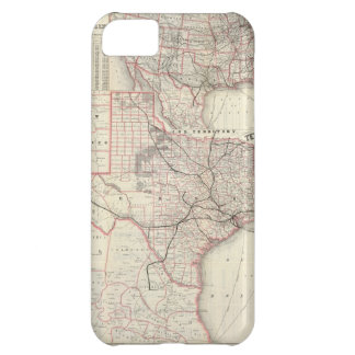 Vintage Map of The Texas Railroad System 1885 Cover For iPhone 5C