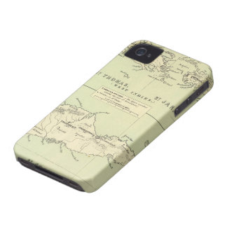 Vintage Map of The Virgin Islands (1853) iPhone 4 Case-Mate Case