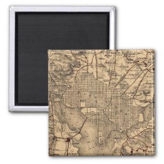 Vintage Map of The Washington DC Area (1865) Square Magnet