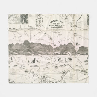 Vintage Map of The White Mountains (1871) Fleece Blanket