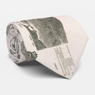 Vintage Map of The White Mountains (1871) Tie