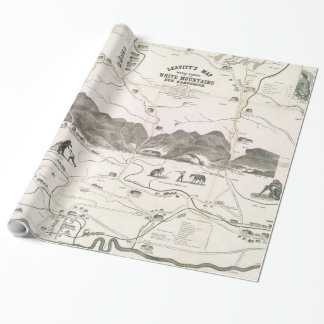 Vintage Map of The White Mountains (1871) Wrapping Paper