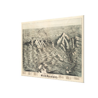 Vintage Map of The White Mountains (1890) Canvas Print