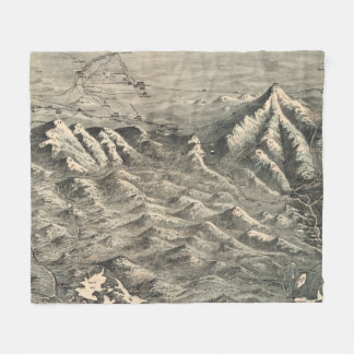 Vintage Map of The White Mountains (1890) Fleece Blanket