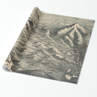Vintage Map of The White Mountains (1890) Wrapping Paper
