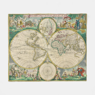 Historical World Map Blankets Bed Blankets Zazzle - World map blanket