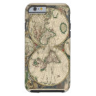 Vintage Map of The World (1689) Tough iPhone 6 Case