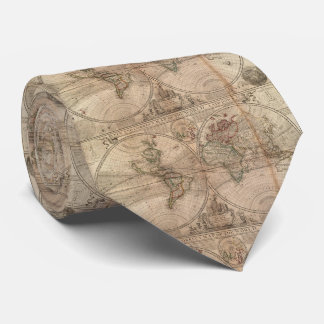 Vintage Map of The World (1709) Tie