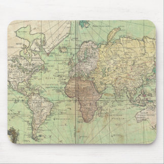 Vintage Map of The World (1778) Mouse Pad