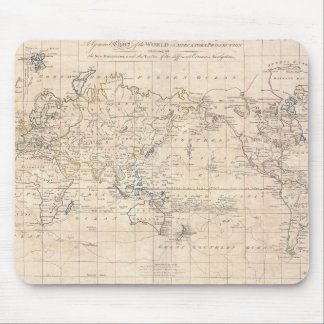 Vintage Map of The World (1799) Mouse Pad