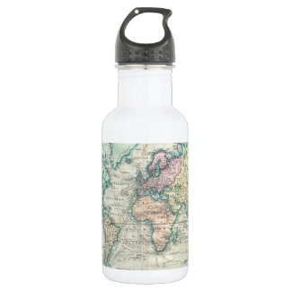 Vintage Map of The World (1801) 532 Ml Water Bottle