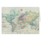 Vintage Map of The World (1801) Card