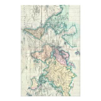 Vintage Map of The World (1801) Customised Stationery