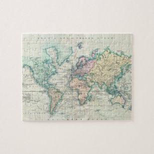 Vintage world map jigsaw puzzles zazzle vintage map of the world 1801 jigsaw puzzle gumiabroncs Choice Image